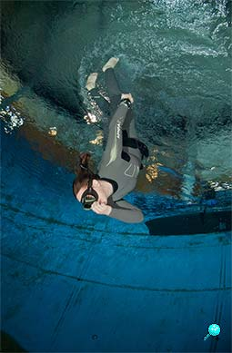 Freediving Training mit Tamara Pfeuffer © UWW Michael Goldschmidt